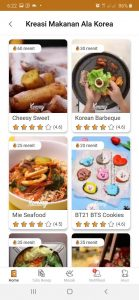 kreasi makanan ala korea